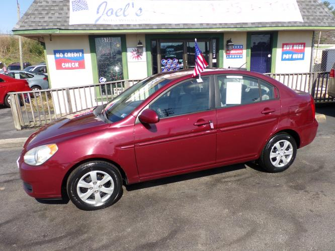 2008 Burgundy Hyundai Accent GLS 4-Door (KMHCN46C78U) with an 1.6L L4 DOHC 16V engine, located at 5700 Curlew Drive, Norfolk, VA, 23502, (757) 455-6330, 36.841885, -76.209412 - Photo #0