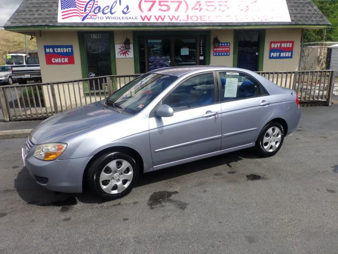 2008 Blue Kia Spectra EX (KNAFE121885) with an 2.0L L4 DOHC 16V engine, located at 5700 Curlew Drive, Norfolk, VA, 23502, (757) 455-6330, 36.841885, -76.209412 - Photo #0